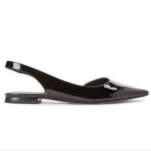Marc Fisher Shoes - Marc Fisher Black Sessily Pointy Slingback Flats